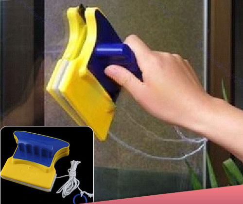 Магнитная щетка для мытья окон с двух сторон 1431