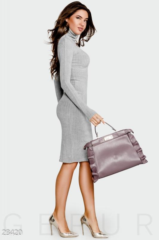 Теплое платье рубчик Подробнее: https://gepur.com/product/plate-23420