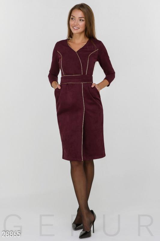 Замшевое платье-футляр Подробнее: https://gepur.com/product/plate-28865