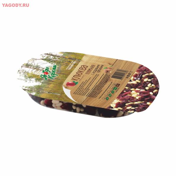 Клюква вяленая с кедровыми орешками, ПЭТ-лоток 150 г