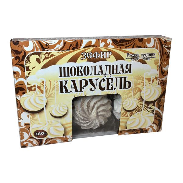 """Зефир \""""Шоколадная карусель\"""", 180 г"""