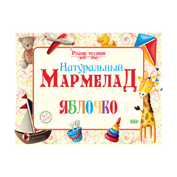 Натуральный мармелад «Яблочко», 160г