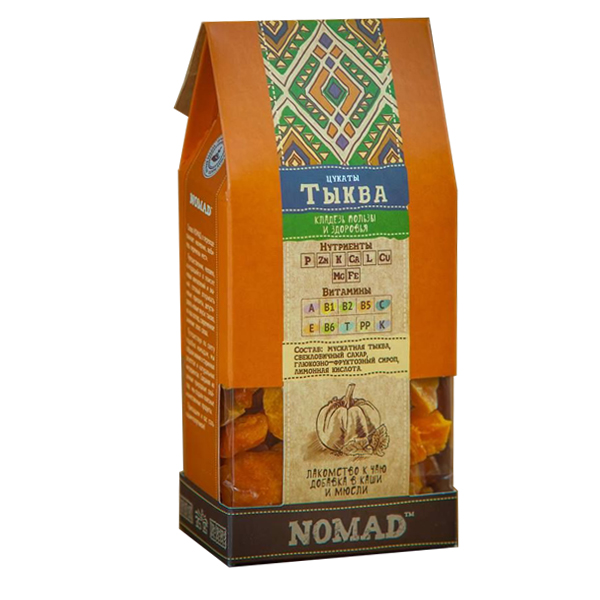 Натуральные цукаты Nomad из тыквы, 150г