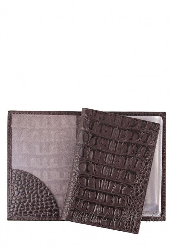 Модель № LV1 | кожа | крокодил | коричневый | К209-2 | 19020