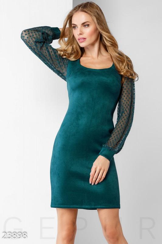 Эффектное замшевое платье Подробнее: https://gepur.com/product/plate-23898