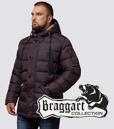 Зимняя мужская куртка на меху 35502 темно-бордовый