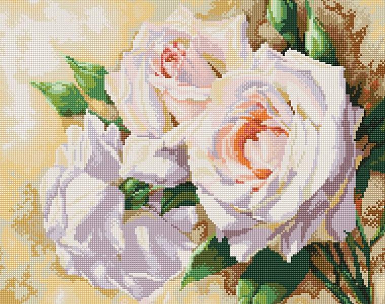 Набор Белоснежка для изготовления картин со стразами на подрамнике арт.БЛ.255-ST-S Розовое трио 40х50см