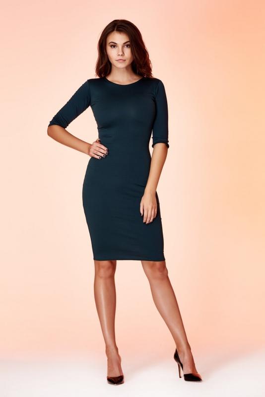 Платье 1100112GR от Amori, цвет изумрудный