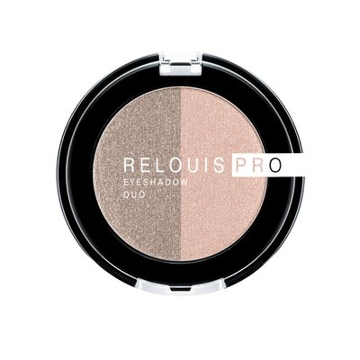 Relouis PRO Тени для век eyeshadow DUO тон 112 (51 Peachy Keen+52 Cocoa Milk)