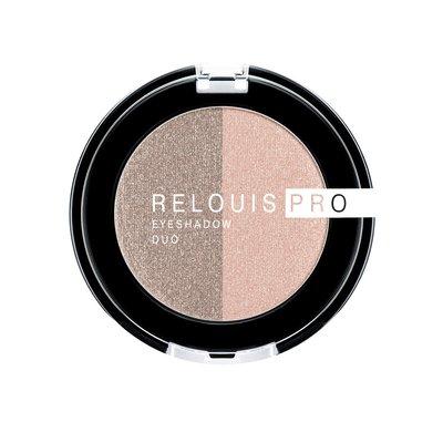 Relouis PRO Тени для век eyeshadow DUO тон 112 (51 Peachy Keen+52 Cocoa Milk)