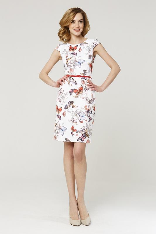 Платье с ремнем 7576