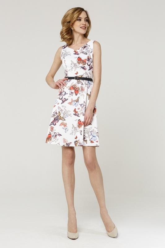 Платье с ремнем 7577