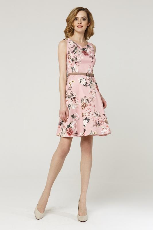 Платье с ремнем 7578