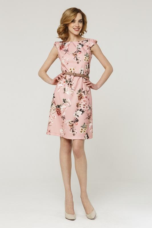 Платье с ремнем 7593