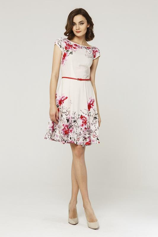 Платье с ремнем 7599