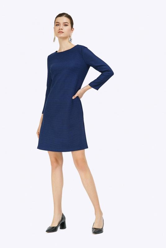 Платье в гусилую лапку