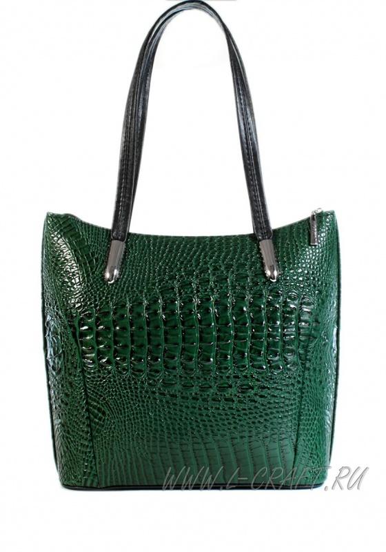 Модель №1142 | кожзам | крокодил | зеленый | Р717-16 | 21911