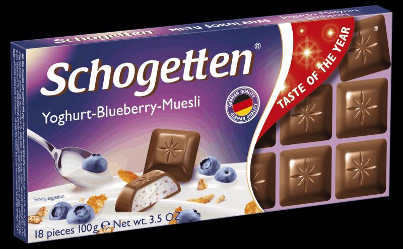 Schogetten йогурт, голубика, мюсли 100г