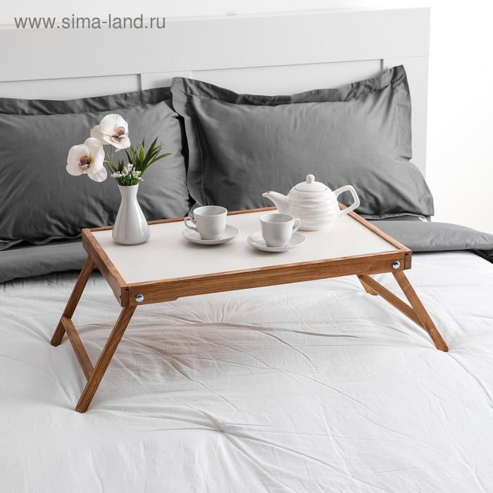 """Столик для завтрака """"Ренессанс"""", цвет итальянский орех, массив ясеня, 60х40 см"""