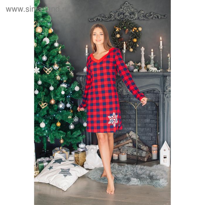 """Платье женское KAFTAN """"Hello winter"""", в клетку, р-р 40-42, 100% хл"""