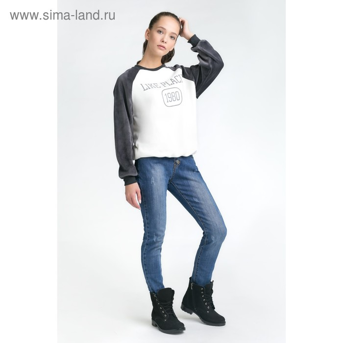 Толстовка женская, цвет серый, one size