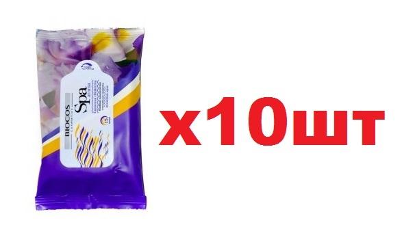 Салфетки влажные SPA Aroma 15шт Японский ирис 10шт