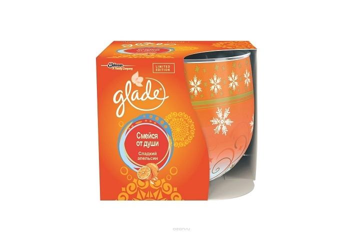 Glade Ароматизированная свеча 120г Сладкий апельсин