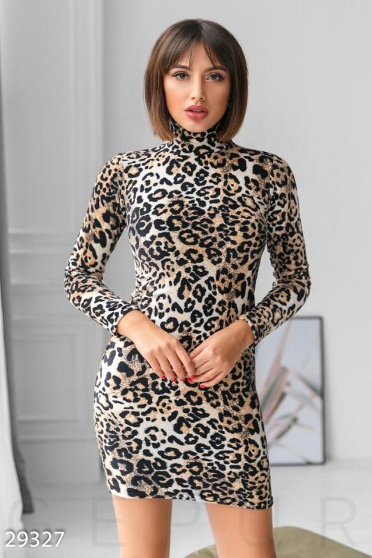 Облегающее платье с принтом