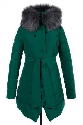05-1431 Куртка зимняя (Синтепух 370) пояс Плащевка Зеленый