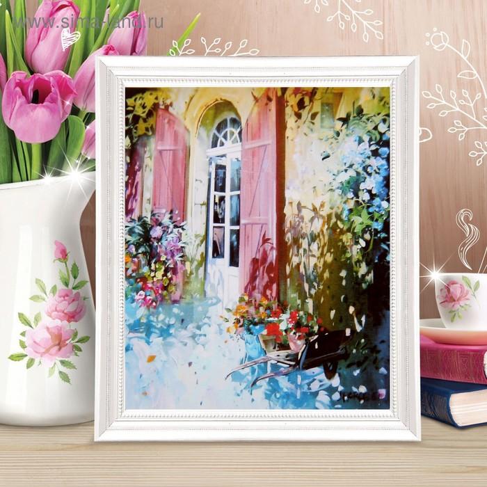 """Роспись по холсту """"Цветы у окна"""" по номерам с красками по3 мл+ кисти+инстр-я+крепеж 30*40"""