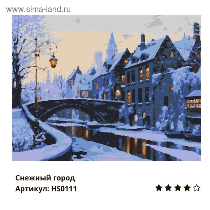 """Рисование по номерам """"Снежный город"""" 40х50 см HS0111"""