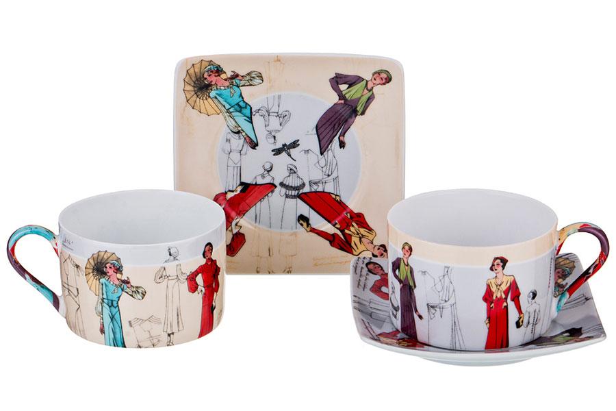 Чайный набор Lefard 86-1635 на 2 персоны 4 пр. 180 мл