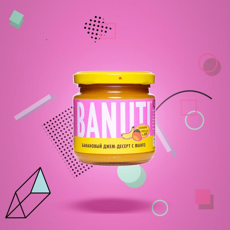 "Фруктовый десерт \""BANUTI\"" банан с манго (без сахара)"