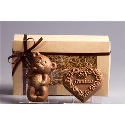 Мишка + Сердце «Люблю»