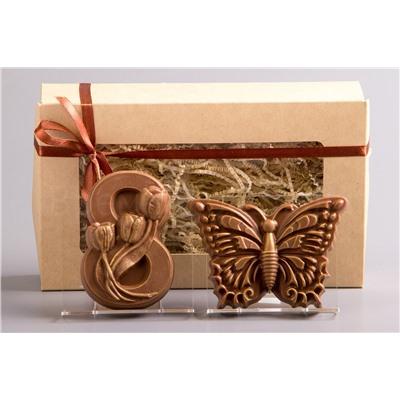 8 марта Три тюльпана + Бабочка