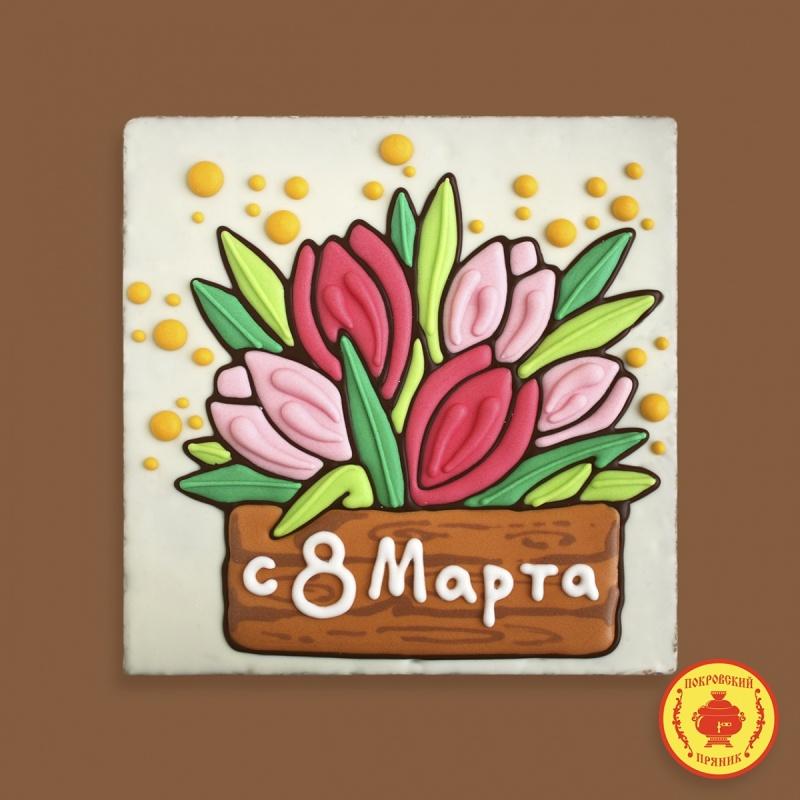 """Тортик Тюльпаны \""""8 Марта\"""" 700 грамм (будет представлен в ассортименте)"""
