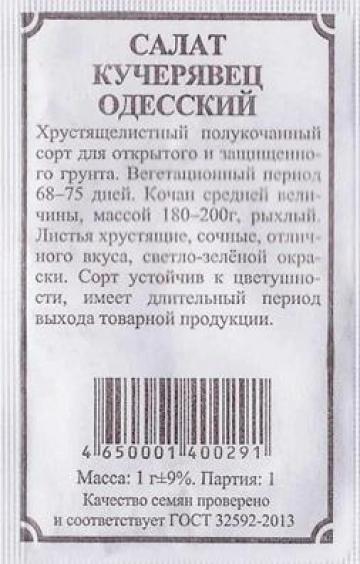 Салат Кучерявец Одесский (Код: 82871)