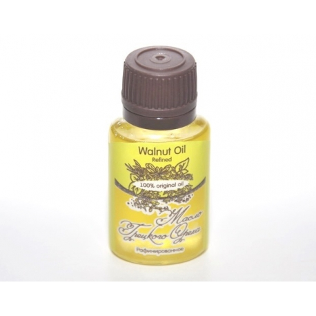 Масло ГРЕЦКОГО ОРЕХА/ Walnut Oil Refined / рафинированное/ 20 ml