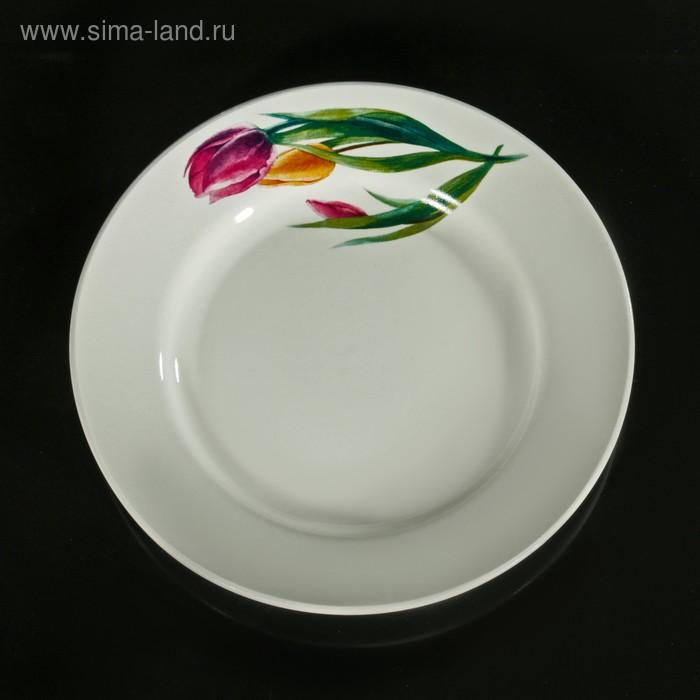 "Тарелка мелкая 17,5 см \""Тюльпаны\"""