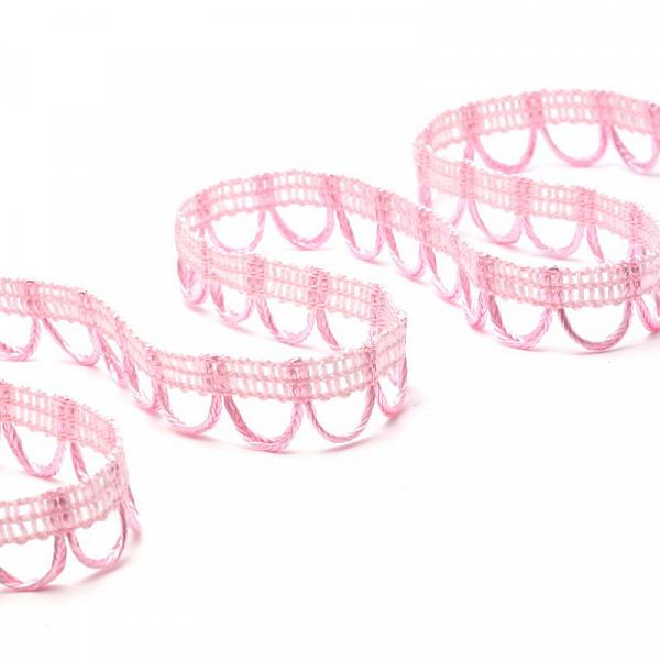 Тесьма отделочная UU цв.132 св. розовый шир.18-19мм уп.16,45м