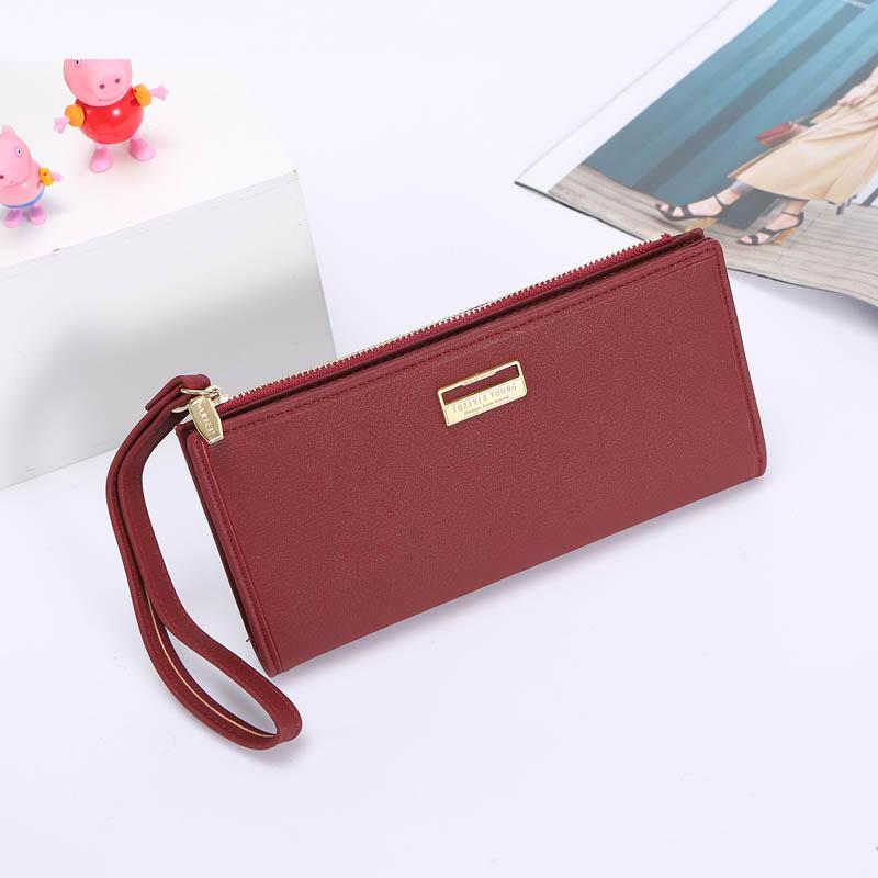 Женский кошелек - бумажник-клатч W-48C-red