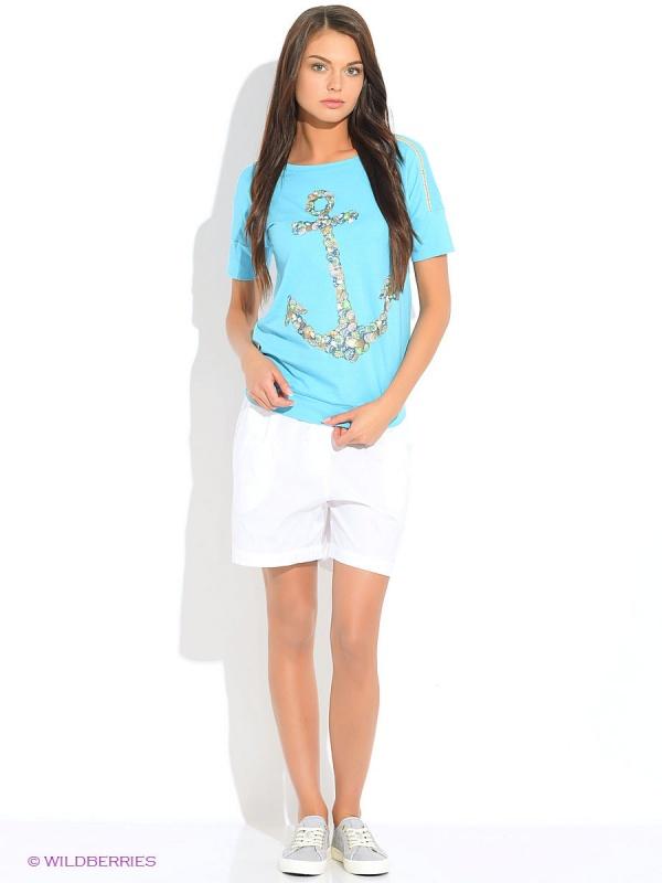 """DT686 джемпер (модель """"футболка"""") женский (XS, Голубой-sky)"""