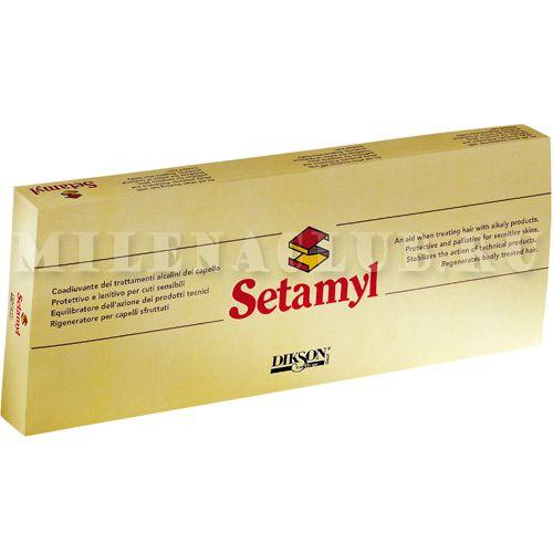 DIKSON Смягчающее ампульное средство при любой химической обработке волос Setamyl 12х12 мл.