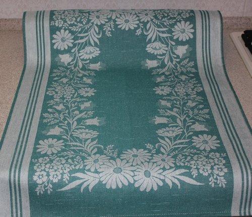 Полотенце Премиум Лужок-зелен. 50*70 см.жаккардовое пестротканое хлопок 100%