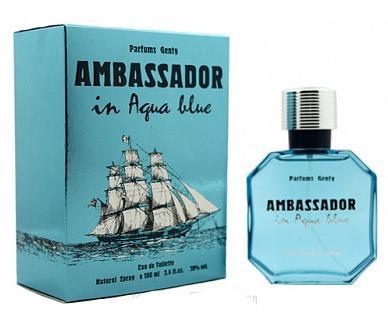 Т/вода муж. Ambassador Aqua Blue 100мл/30