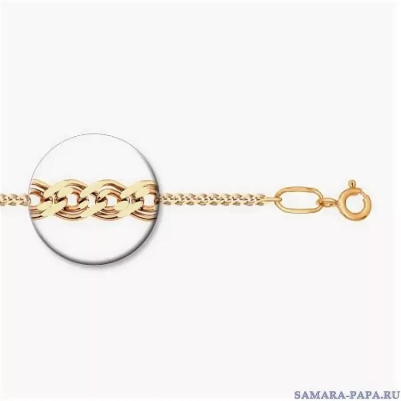 Позолоченная серебряная цепь 45 см. Нонна 2,5 мм