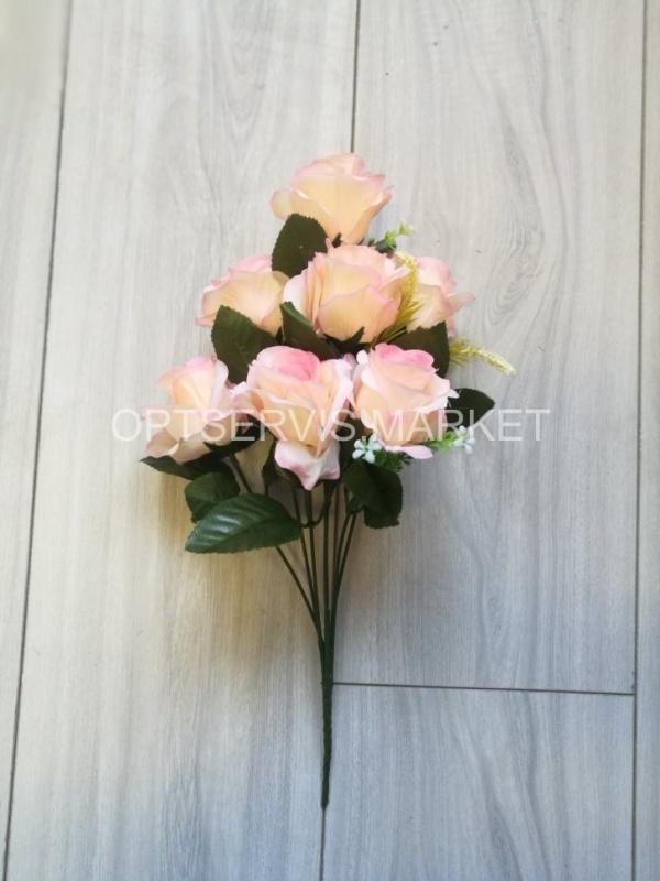 """Букет роз \""""Чистое сердце\"""", арт.С109, h 40см, 7 голов d 7см"""