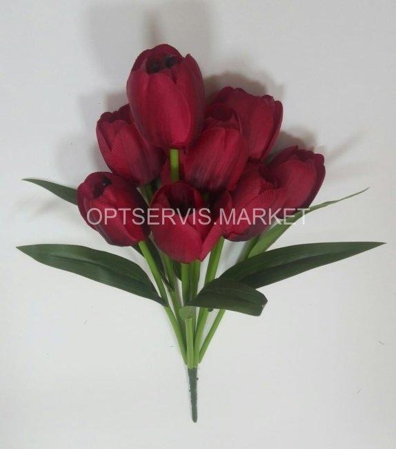 """Букет тюльпанов \""""Роберт\"""", высота 43см, 9 голов D 3см"""