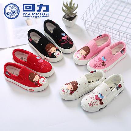 Детская обувь детская обувь холст 2019 весной и осенью новые детские ручная роспись маленькие белые туфли обувь для мальчиков и девочек обувь обувь
