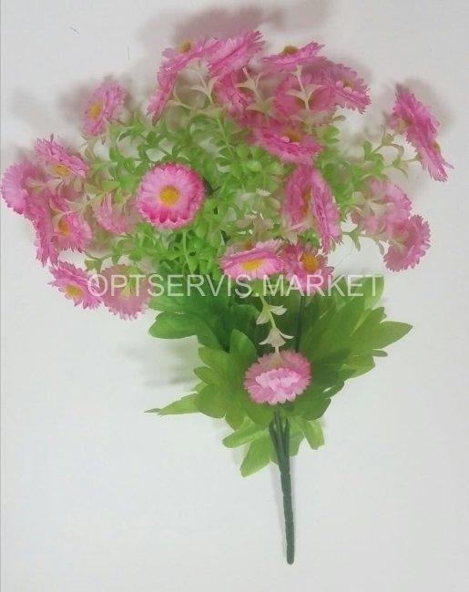 Маргаритки садовые, высота букета 30 см, 5 веток